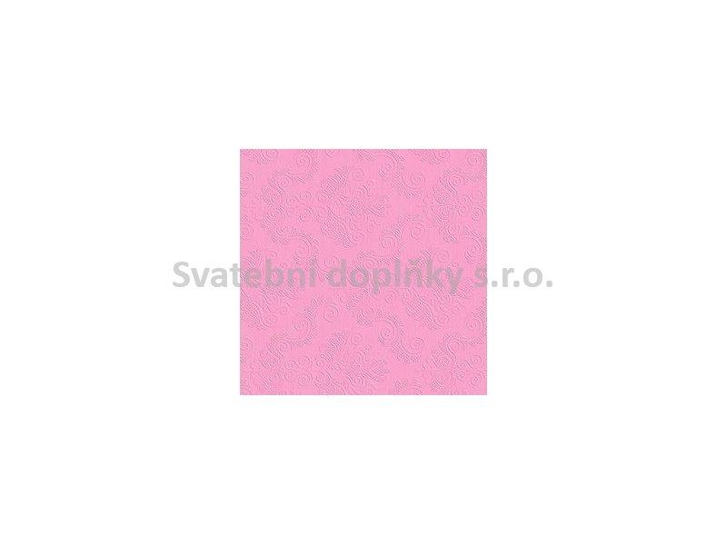 Ubrousek 3-vrstvý embosovaný růžový světlý 20 ks - Obrázek č. 1