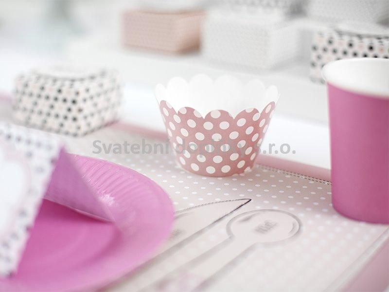 Košíčky na muffiny s puntíky SWEETS 6 ks - Obrázek č. 1