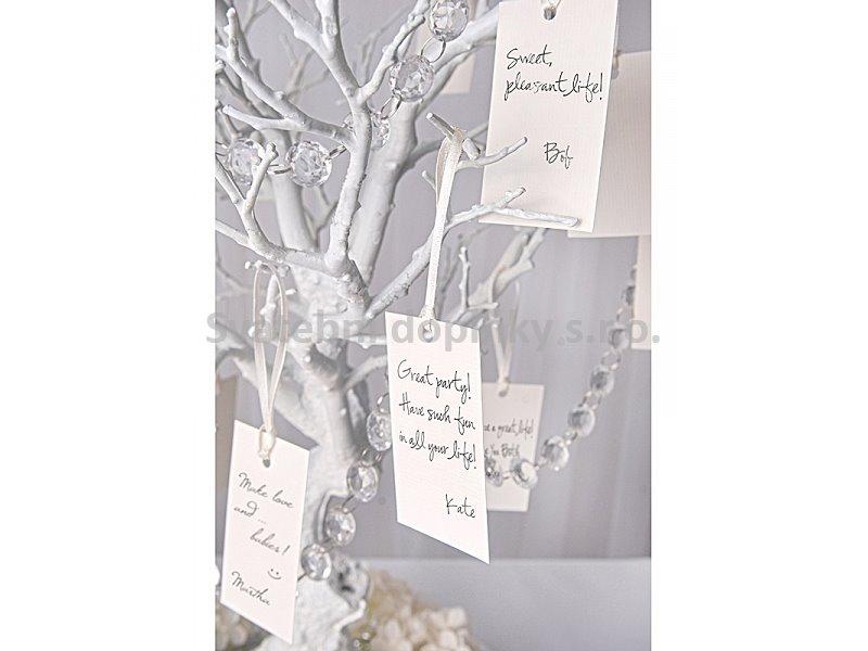 Visačky bílé 6 ks - Obrázek č. 1