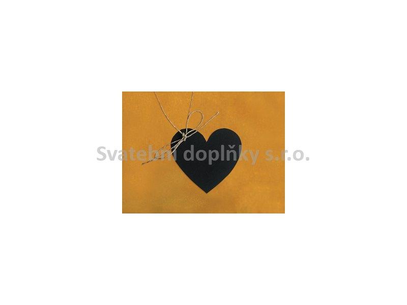 Visačka srdíčka černá 10 ks - Obrázek č. 1