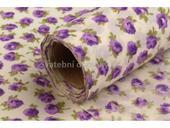 Dekorační tkanina - růže fialové 5 m,