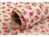 Dekorační tkanina - růže růžové 5 m  ,
