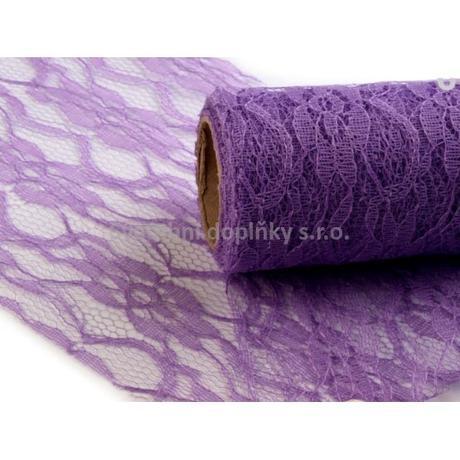 Krajka fialová LILA 15 cm - Obrázek č. 1