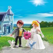 Figurka - ženich a nevěsta - dárek pro svatebčany,
