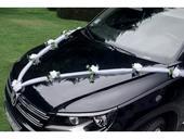 Dekorace na auto z tylu - bílé růže 1 ks 1,7 m  ,
