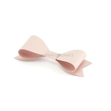 papírová mašlička růžová 8 cm /6 ks - Obrázek č. 1