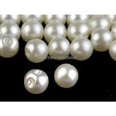 perličky béžové 8 mm - 1000 Ks  ,
