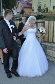 Svadobné šaty - snehovobiele 38-40, 38