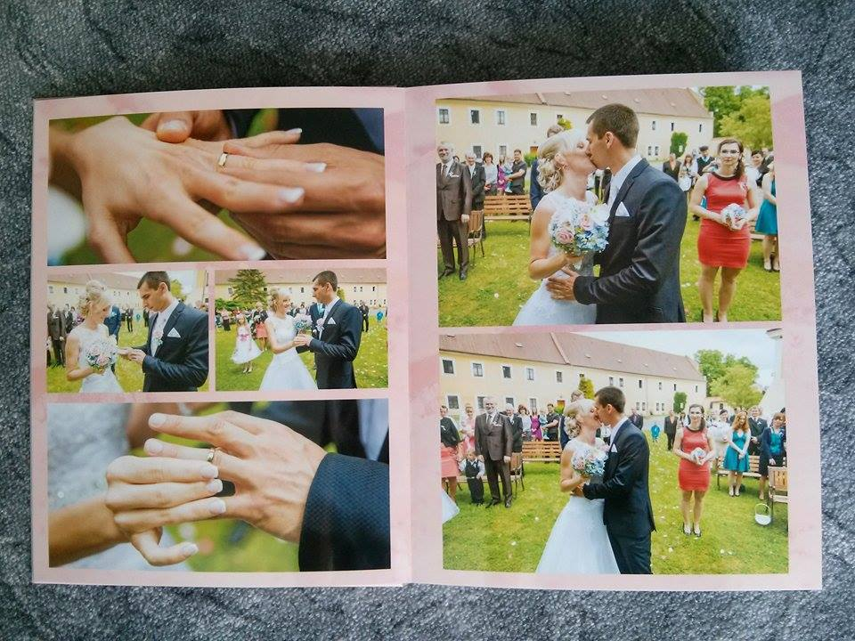 Naše fotokniha ze svatby :-* Jsem nadšená, mohla bych se na ní koukat pořád dokola :-) Zde je pár stránek, ale celkem jich má 54. Na posledních pár stránek jsem dala i fotky ze svatební cesty, ať to máme komplet. - obřad