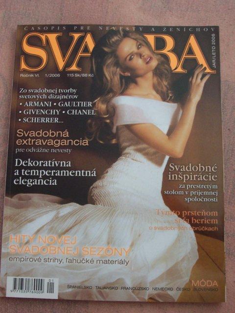 Zásnuby - zbieranie inšpirácii, moje vysnívané a už rezervované šaty som uvidela prvý krát v tomto časopise