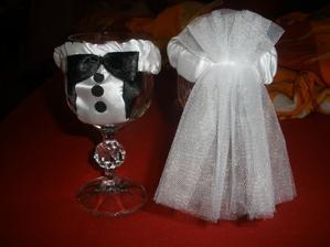na svatební sklenky