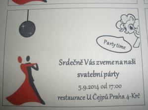 kartička pozvání na párty