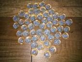 Dekorační kamínky s glitry,