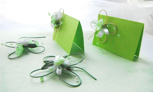 Čtyřlístková svatba- bílo zelená - Obrázek č. 2