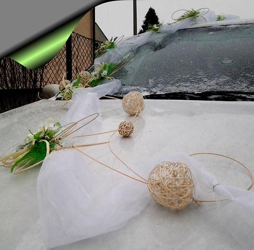 Čtyřlístková svatba- bílo zelená - Obrázek č. 6