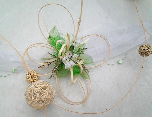 Čtyřlístková svatba- bílo zelená - Obrázek č. 7