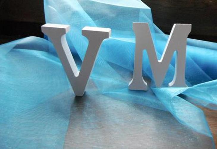 Materiál k tvoření - dřevěná písmena 8cm