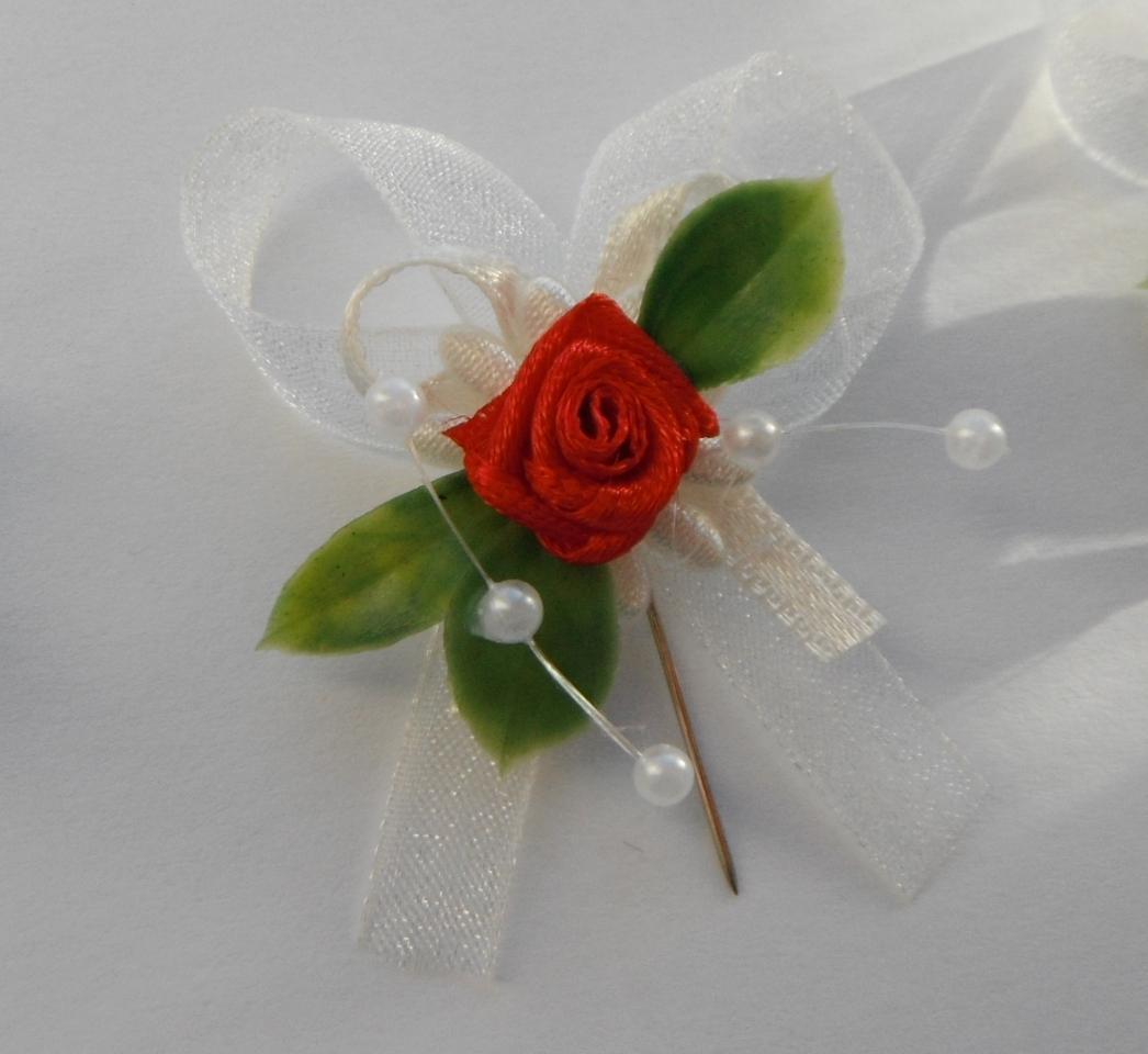Svatební vývazky - s růžičkou - Obrázek č. 1