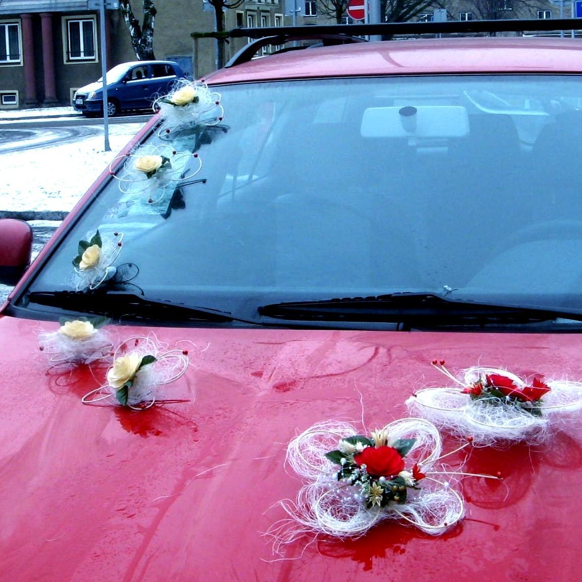 """Dekorace na svatební auto """"Motýli a květy"""" - Obrázek č. 3"""