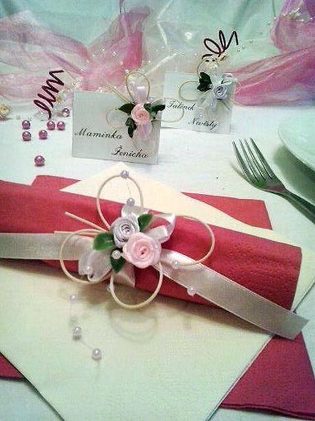 Sada k dekoraci svatebního stolu- malinová motýlí - Obrázek č. 1