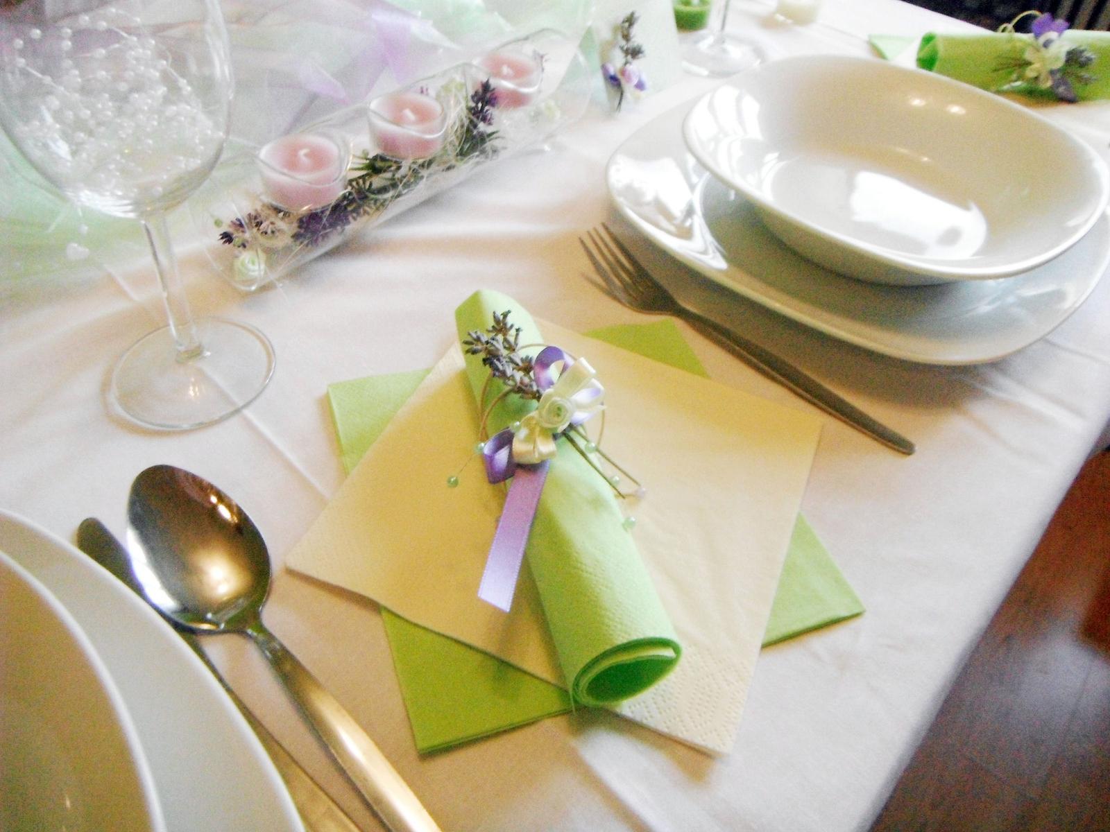 Sada k dekoraci svatebního stolu- levandule a máta - Obrázek č. 1