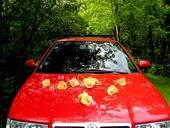 """výzdoba auta """"Šípková růže - žlutá"""","""