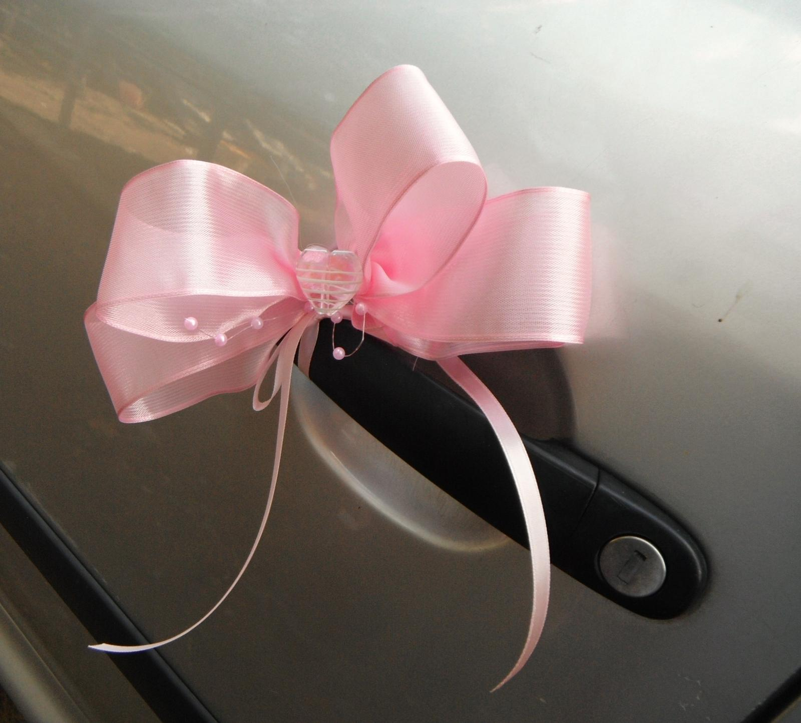 Mašle na kliku auta- pink - Obrázek č. 1