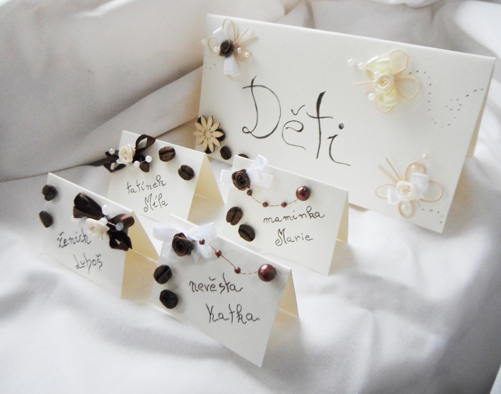 Sada k dekoraci svatebního stolu  -káva - Obrázek č. 2