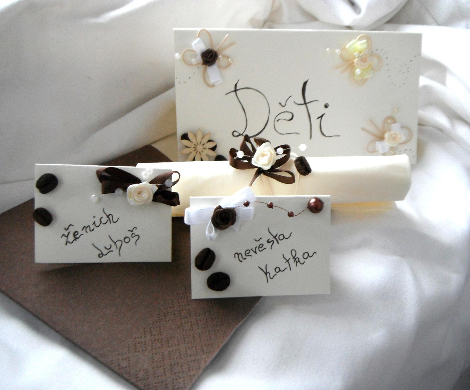 Sada k dekoraci svatebního stolu  -káva - Obrázek č. 1