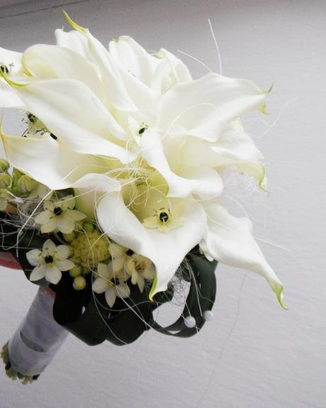 Svatební kytice- kaly a ornithogalum - Obrázek č. 1