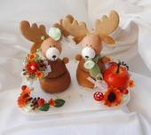 figurky na dort - podzimní s jelínky,