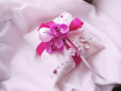 """polštářek na prstýnky """" něžná orchidej"""" - Obrázek č. 1"""