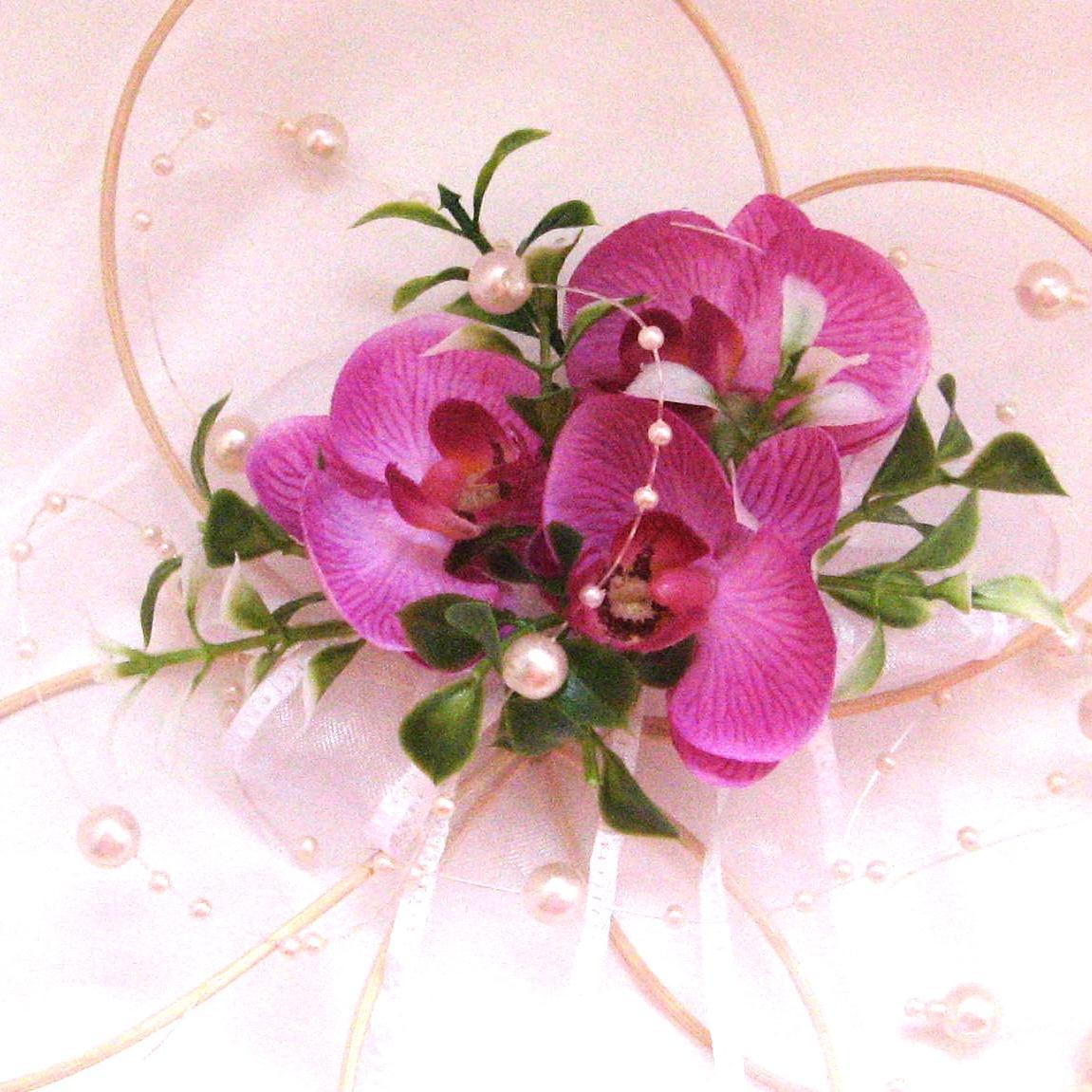 Dekorace na svatební auto - květ s orchidejí - Obrázek č. 1