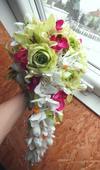 Svatební kytice- exotická převislá (umělá),