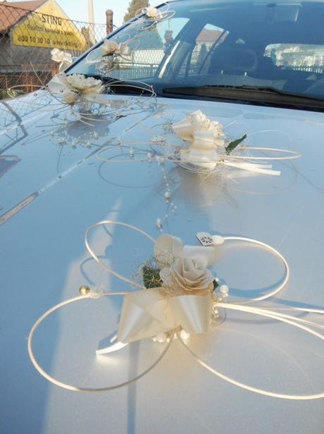 Výzdoba svatebního auta- motýlci ivory perličkoví - Obrázek č. 1