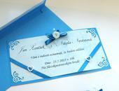 """luxusní svatební oznámení """"modré ornamenty"""","""