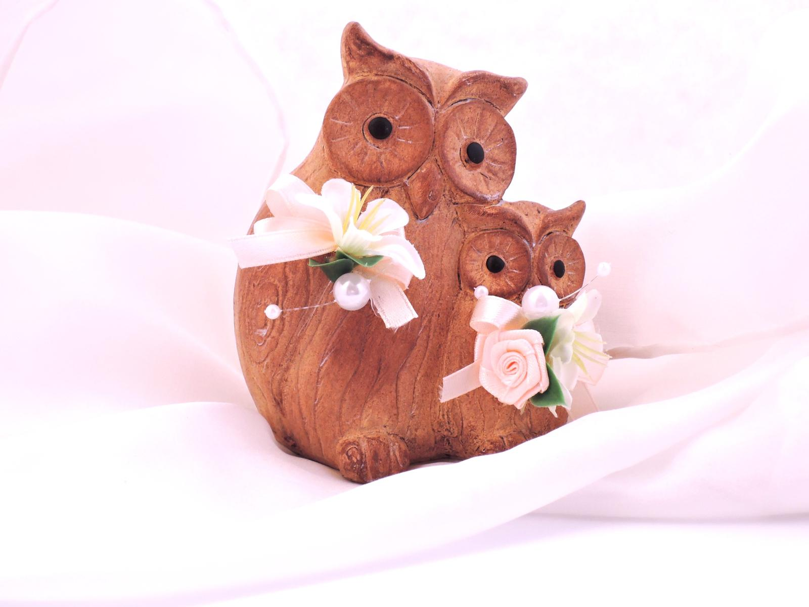 Figurky na svatební dort - sovičky - Obrázek č. 1