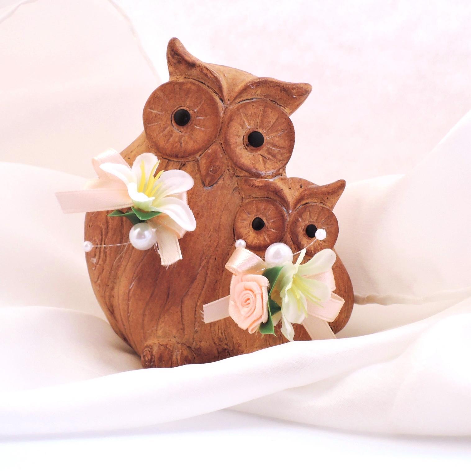 Figurky na svatební dort - sovičky - Obrázek č. 2