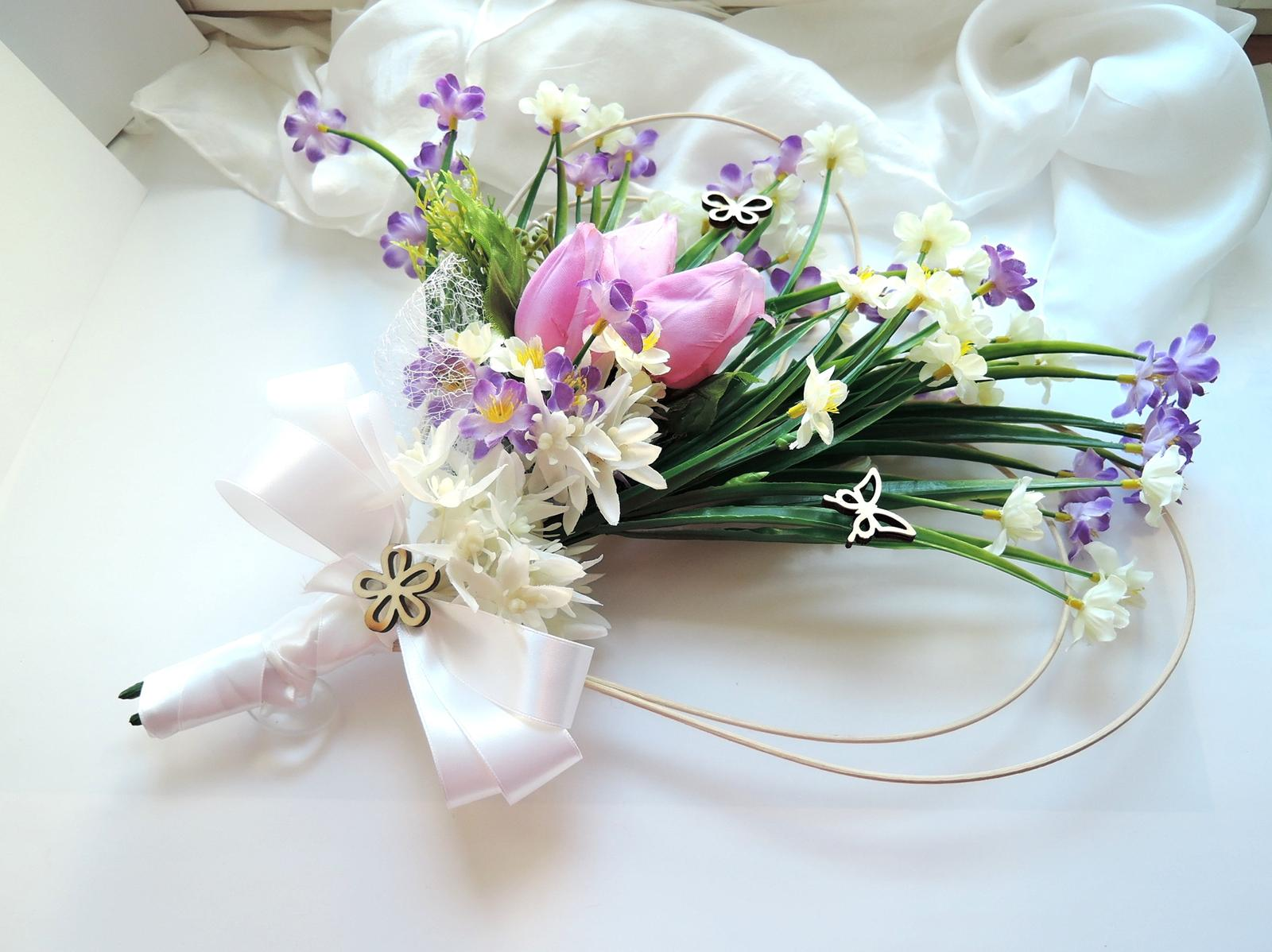 """dekorace na svatební auto """"Jarní"""" - Obrázek č. 2"""