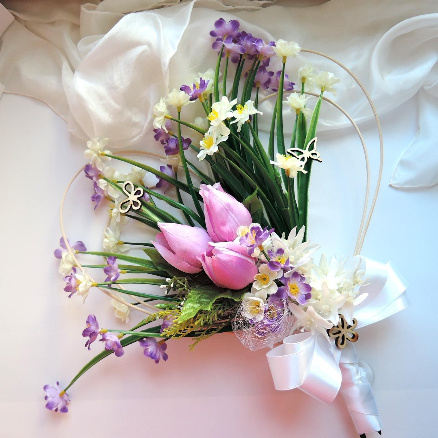 """dekorace na svatební auto """"Jarní"""" - Obrázek č. 3"""