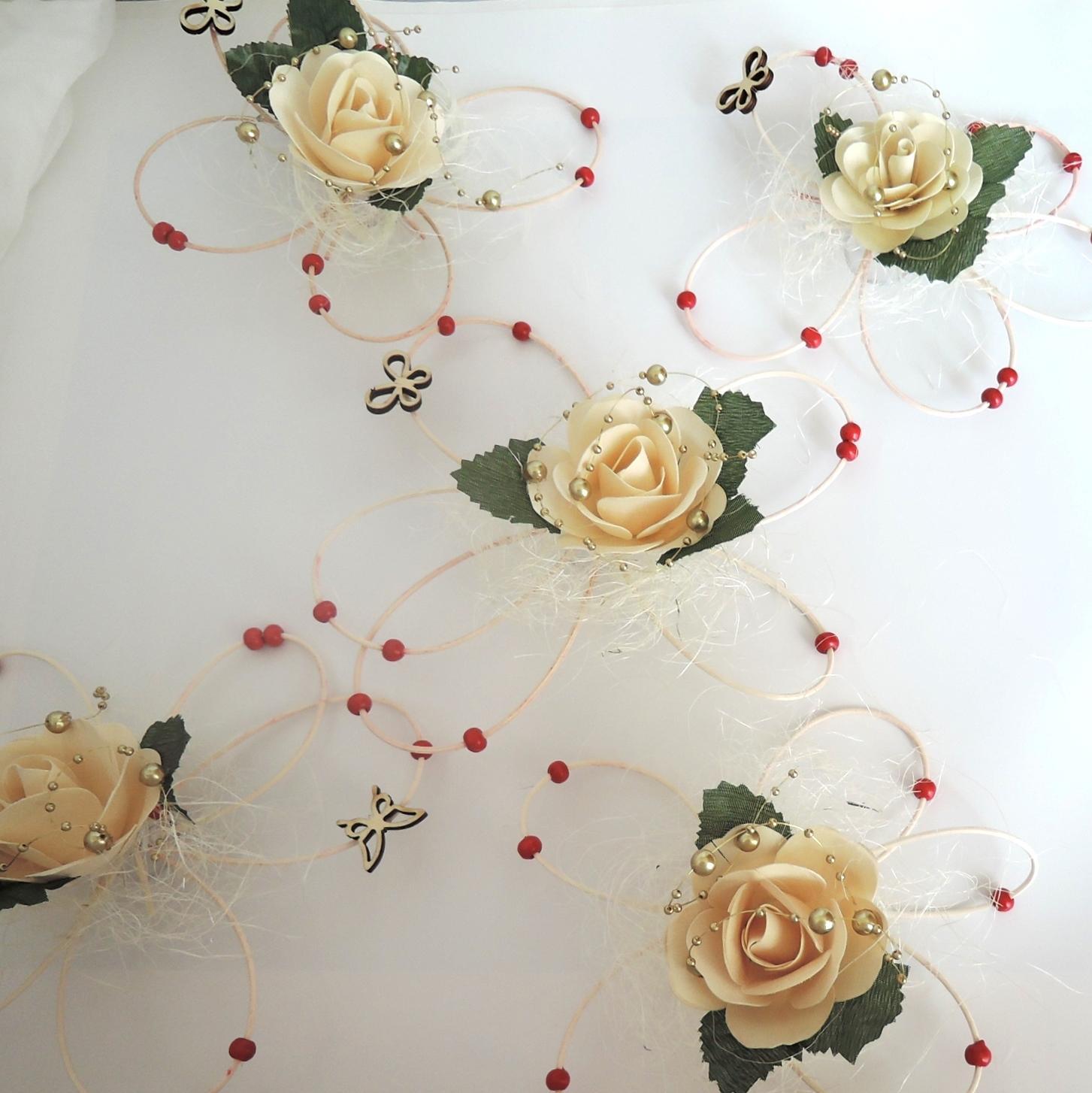 """Dekorace na svatební auto """"Motýli a květy"""" - Obrázek č. 1"""