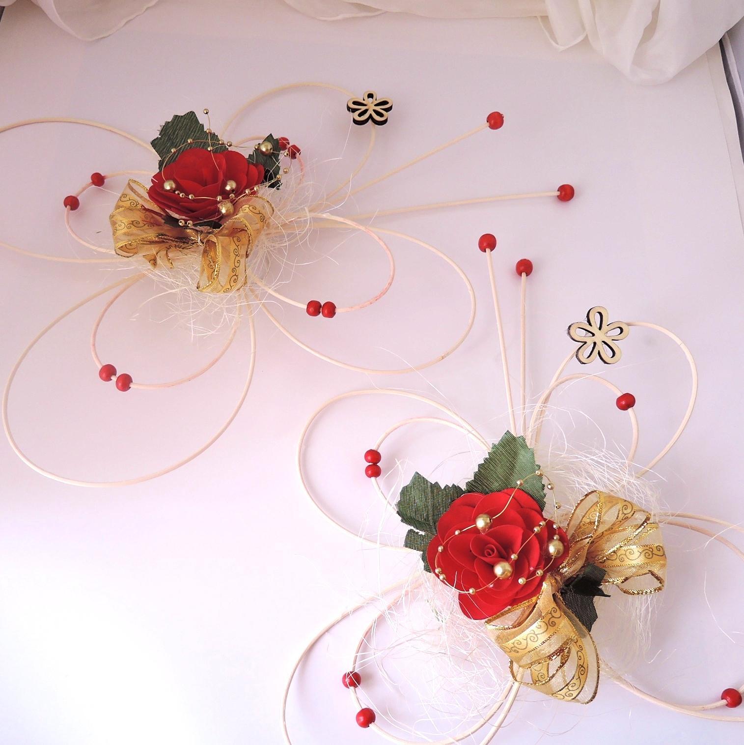 """Dekorace na svatební auto """"Motýli a květy"""" - Obrázek č. 4"""