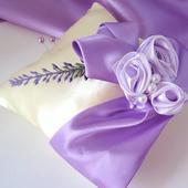 """polštářek na prstýnky """" levandule a lila květy"""","""