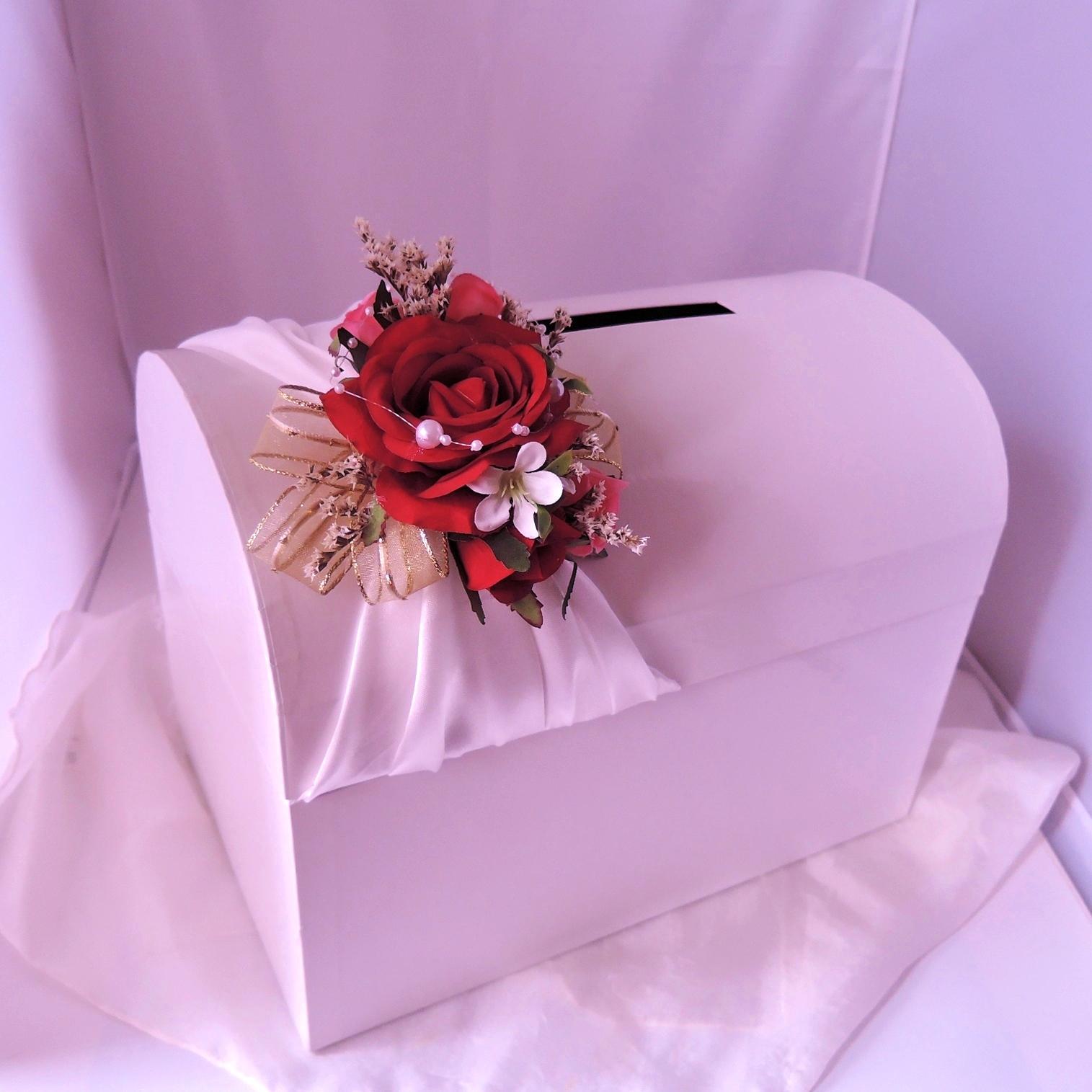 svatební pokladnička velká- růže-zapůjčení - Obrázek č. 1