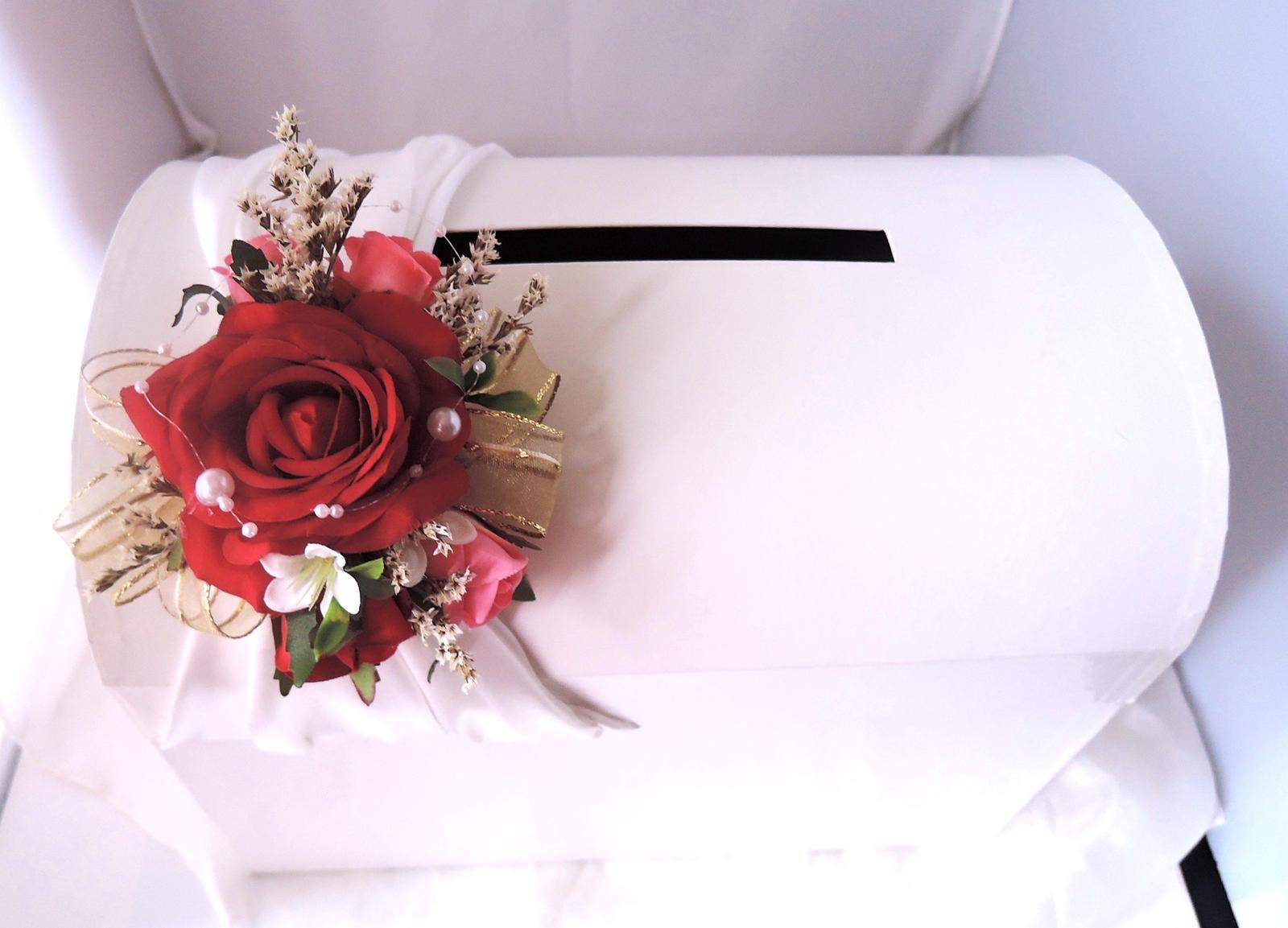 svatební pokladnička velká- růže-zapůjčení - Obrázek č. 2