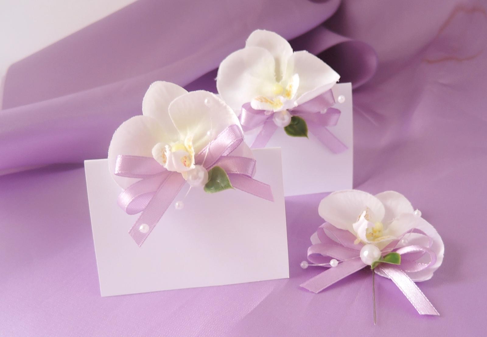 "malá sada ""Bílá orchidej"" - Obrázek č. 1"
