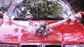 """svatební auto - """"Bílé růže s růžovou"""","""
