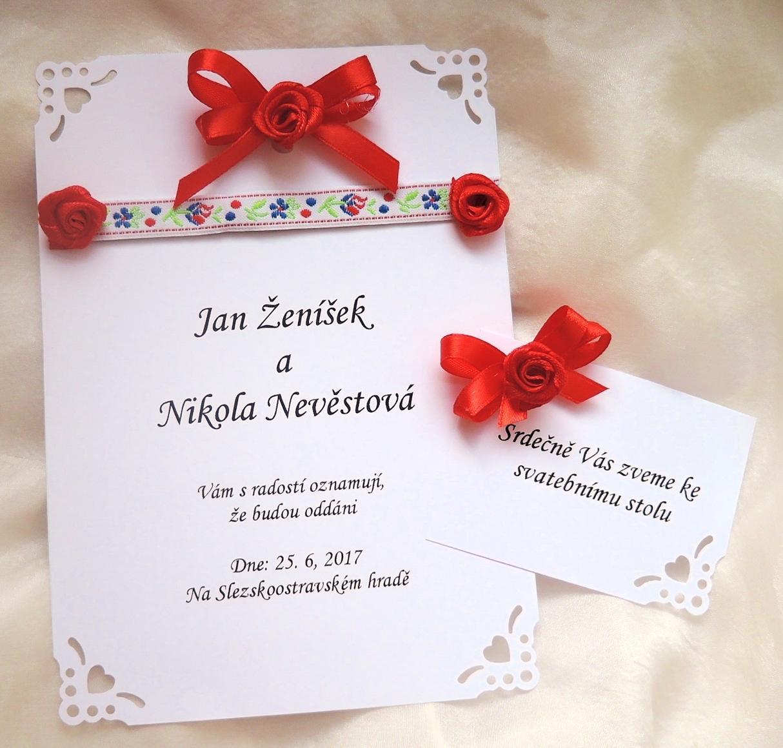 """svatební oznámení """"Na lidovú notečku"""" - Obrázek č. 2"""