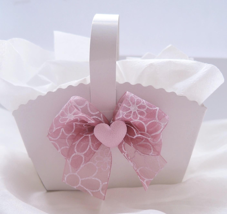 Košíček na malé koláčky starorůžový jednostranný - Obrázek č. 1