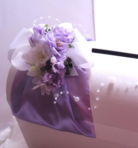 """svatební pokladnička velká-Fialové tóny""""-zapůjčení - Obrázek č. 1"""